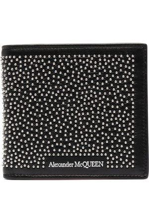 Alexander McQueen Plånbok med nitar och logotyp