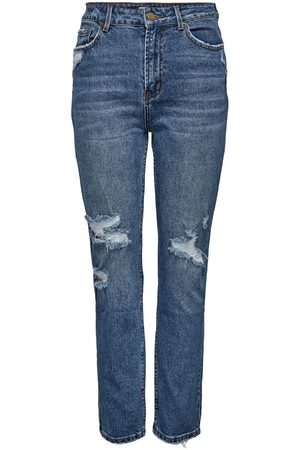 Only Onlemily Life Hw Destroyed Straight Fit-jeans Kvinna