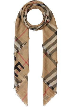 Burberry Rutig stickad halsduk