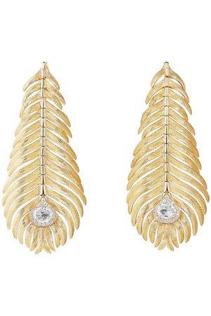 Boucheron Plume de Paon diamantörhängen i 18K gult