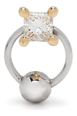 DELFINA DELETTREZ Two in One diamantörhänge i 18K