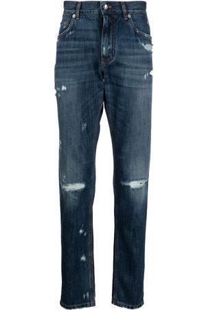 Dolce & Gabbana Smala jeans med sliten detalj