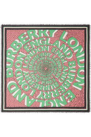 Burberry Stor fyrkantig sjal med logotyp