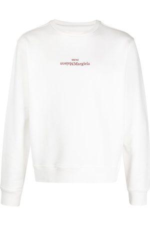 Maison Margiela Sweatshirt med broderad logotyp