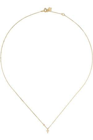 Feidt Paris Diamanthalsband i 18K gult med litet kors