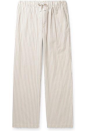 Tekla Striped Organic Cotton-Poplin Pyjama Trousers