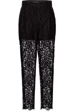 Dolce & Gabbana Cotton-blend lace straight pants