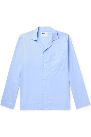 Tekla Camp-Collar Organic Cotton-Poplin Pyjama Shirt