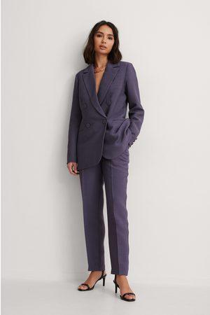 NA-KD Kvinna Dressade byxor - Kostymbyxor Med Struktur