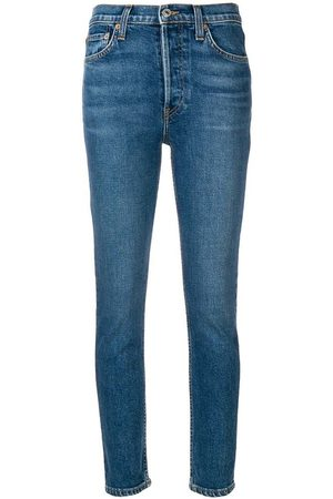 RE/DONE Kvinna High waist - Jeans Comfort Stretch High Rise Ankle Crop