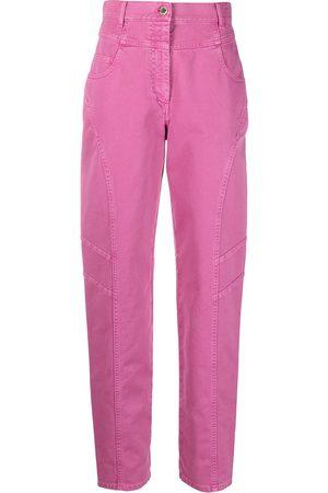 Alberta Ferretti Straight-jeans med hög midja