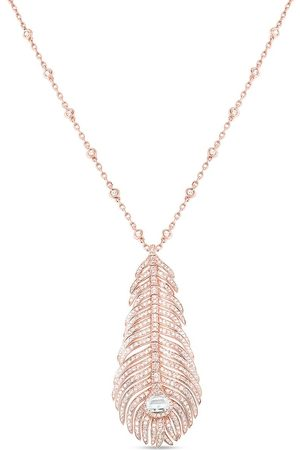 Boucheron Plume de Paon diamanthalsband i 18K vitguld