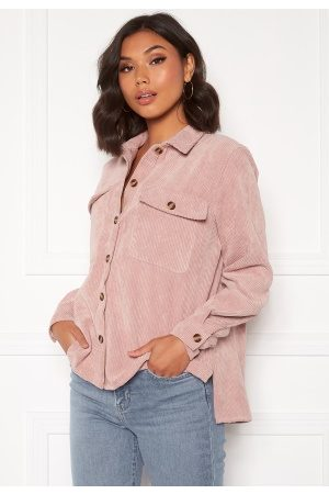 Pieces Kvinna Skjortor - Leffi LS Shirt Ash Rose XS