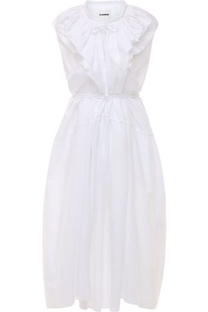 Jil Sander Self-tie Cotton Poplin Maxi Dress