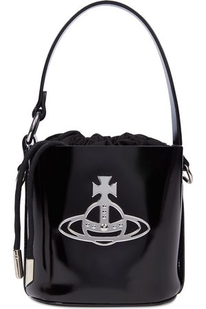 Vivienne Westwood Betty Small Patent Leather Bucket Bag