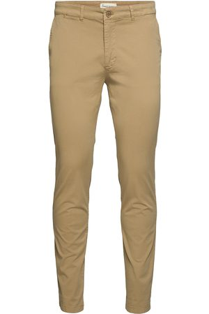 By Garment Makers Man Chinos - The Organic Chino Pants Casual Byxor Vardsgsbyxor Beige