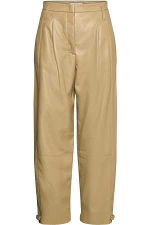 Dorothee Schumacher Sleek Performance Pants Leather Leggings/Byxor Beige
