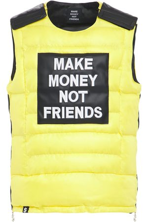 MAKE MONEY NOT FRIENDS Man Dunjackor - Logo Patch Bulletproof Jacket Vest