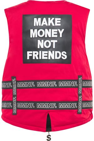 MAKE MONEY NOT FRIENDS Logo Vest W/belts
