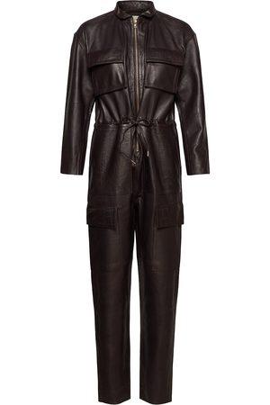 Notes Du Nord Kvinna Playsuits - Sassy Leather Jumpsuit Jumpsuit