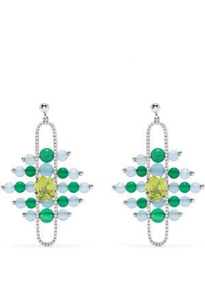 ZEEMOU ZENG Impressionists Dangle diamantörhängen i 18K vitguld