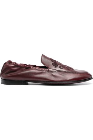 Dolce & Gabbana Man Loafers - Debossed-motif polished-finish loafers