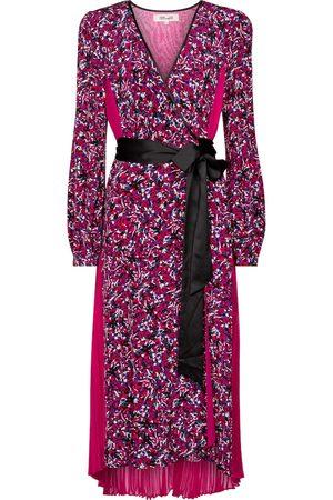 Diane von Furstenberg Kvinna Mönstrade klänningar - Ariadne printed silk crêpe de chine midi dress