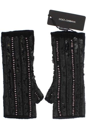 Dolce & Gabbana Knitted Cashmere Sequined Gloves