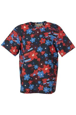 Marni Rainbow Flower Printed Cotton Shirt