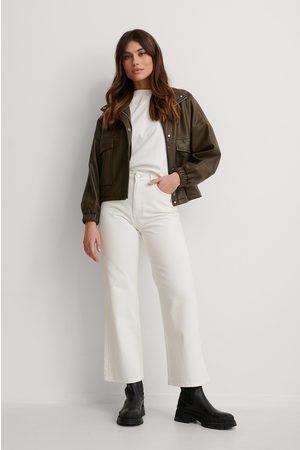 NA-KD Kvinna High waist - Ekologiska Jeans Med Hög Midja