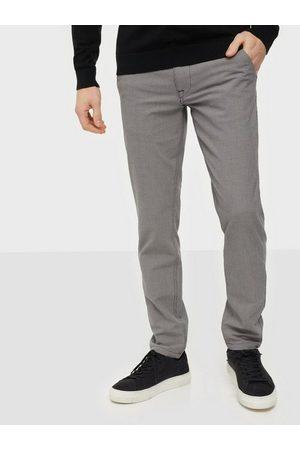 Selected Man Dressade byxor - Slhslim-Storm Flex Smart Pants W No Byxor Sand Houndstooth