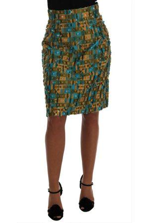Dolce & Gabbana Jacquard Straight Pencil Skirt