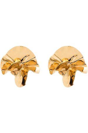 Sterling King Delphinium guldfärgade örhängen