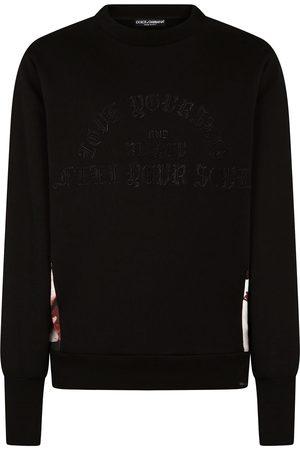 Dolce & Gabbana Contrasting panel cotton sweatshirt