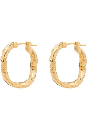 Joanna Laura Constantine Gold-Plated Wave Square Hoop Earrings