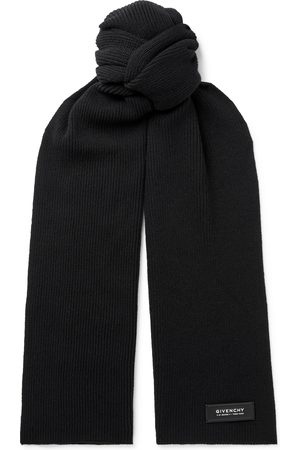 Givenchy Man Sjalar - Logo-Detailed Ribbed Wool and Cashmere-Blend Scarf