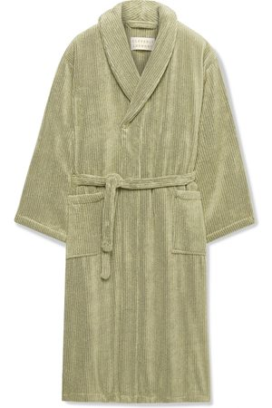 Cleverly Laundry Man Pyjamas - Pinstriped Cotton-Terry Robe