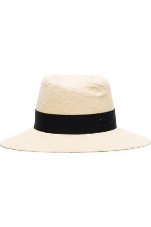 Le Mont St Michel Logo ribbon trim fedora hat