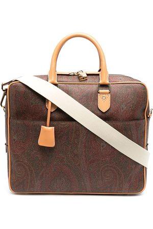 Etro Paisley jacquard canvas briefcase