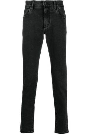 Dolce & Gabbana Smala jeans med präglad logotyp