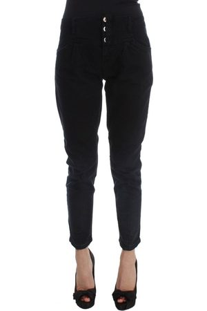 Costume National Slim Fit Cropped Jeans