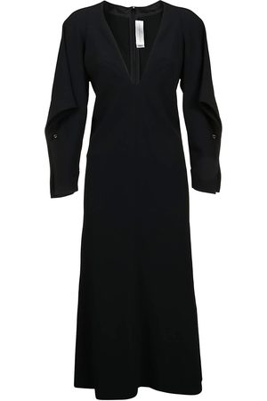 Victoria Beckham Draped Sleeve Dress Dress