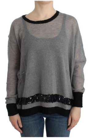 Costume National Embellished asymmetric sweater