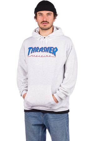 Thrasher Outlined Hoodie ash/grey