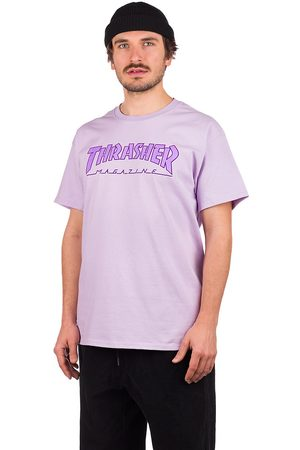 Thrasher Outlined T-Shirt orchid