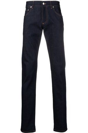 Dolce & Gabbana Man Slim - Jeans med präglad logotyp