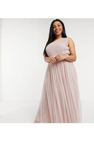 ANAYA Anaya With Love Plus – Brudtärnor – maxiklänning i tyll med en bar axel-Pink