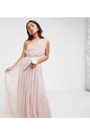 ANAYA Anaya With Love Petite – maxiklänning i tyll med en bar axel, för brudtärnor-Pink