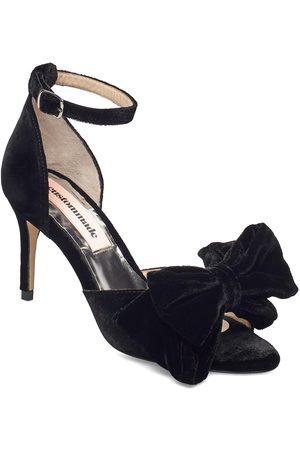 Custommade Kvinna Sandaler - Marita Velvet Sandal Med Klack