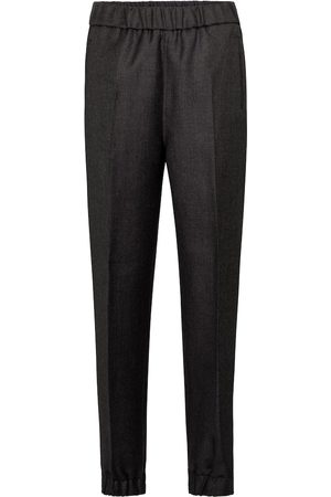 Ganni Wool-blend straight pants
